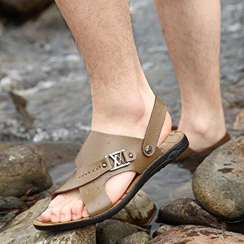 I sandali di FiberMen di estate dei nuovi uomini mette in mostra i modi di ventilazione di modo dei sandali, Khaki, UK = 6, EU = 39