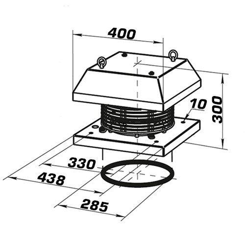 Dachventilator Dalap BATRON/400V 310: Amazon.de: Baumarkt