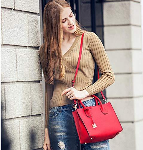 Femme Femme Cuir Sac Oblique Main Simple Sac épaule à C pour Hongge Sac 5qZ5P