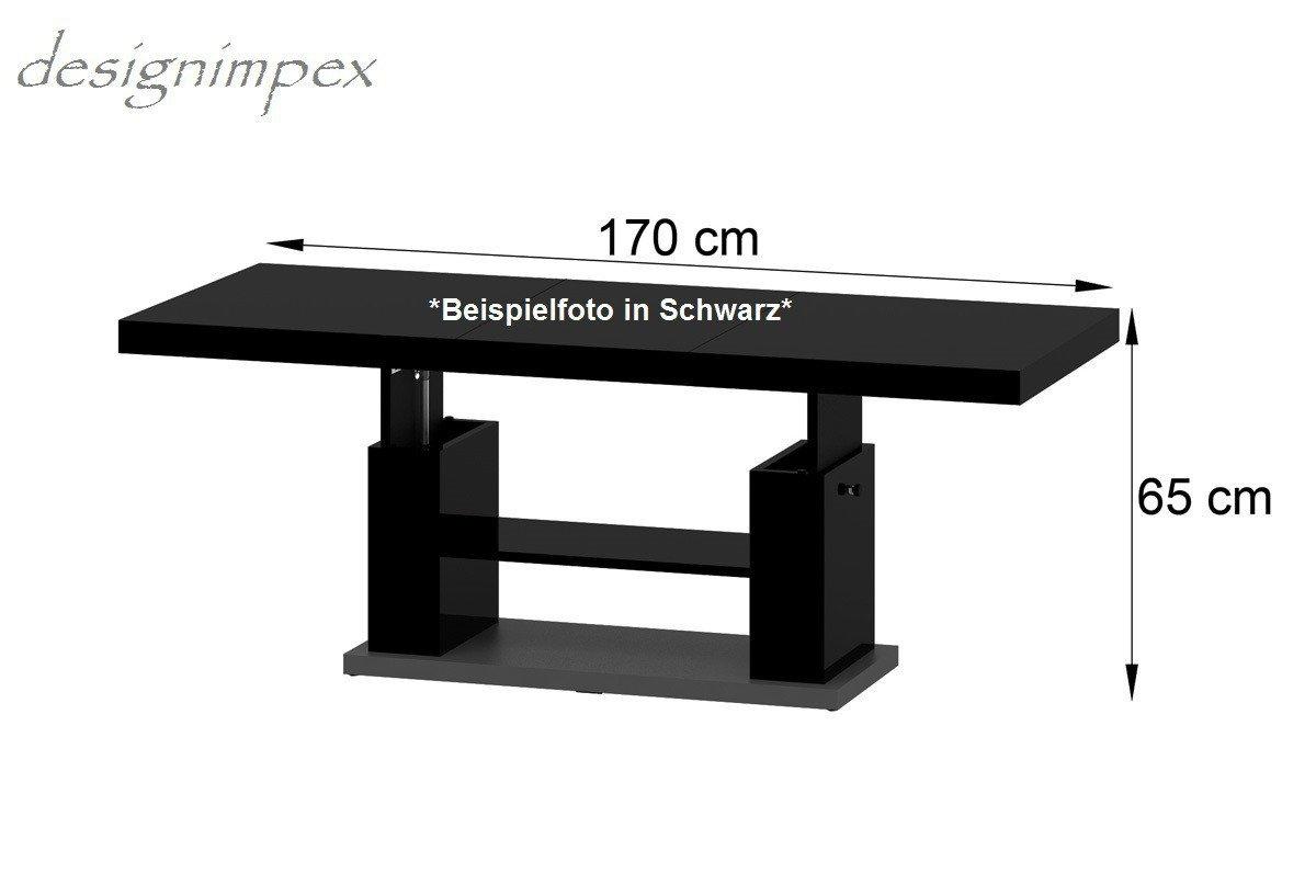 Couchtisch höhenverstellbar schwarz  Amazon.de: Design Couchtisch HN-777 Cappuccino - Nussbaum Hochglanz ...