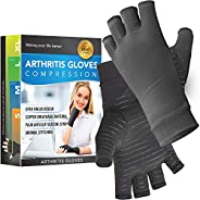 Glalove Copper Fit Compression Gloves, Copper Infused Compression Gloves for Men and Women, Carpal Tunnel, Art