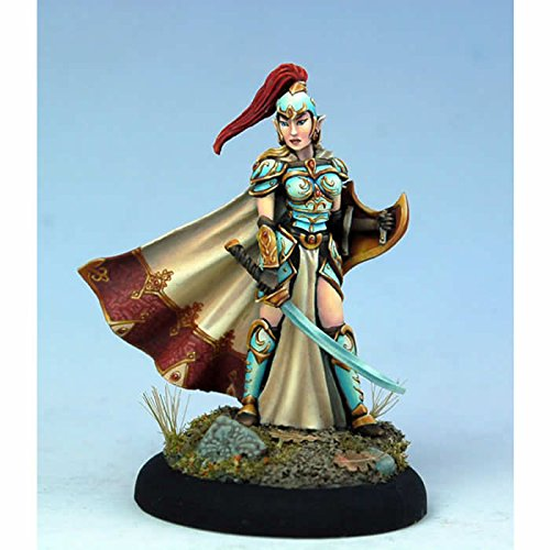 Female High Elf Warrior with Sword Miniature Visions In Fantasy Dark Sword Miniatures
