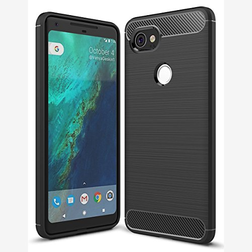 Google Pixel 2XL Case, Tomplus [Soft Armor] Resilient Tpu [Air Cushion] Ultimate protection from drops and impacts for Google Pixel 2XL (Black)
