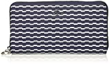 Large Zip Wallet Wallet, 966 Wave Peacoat White, One Size