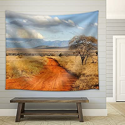 Beautiful Landscape with Tree in Africa - Fabric Wall Tapestry Home Decor - 51x60 inches