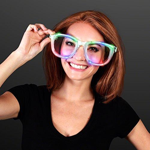 Wacky Flashing Jumbo LED Sunglasses