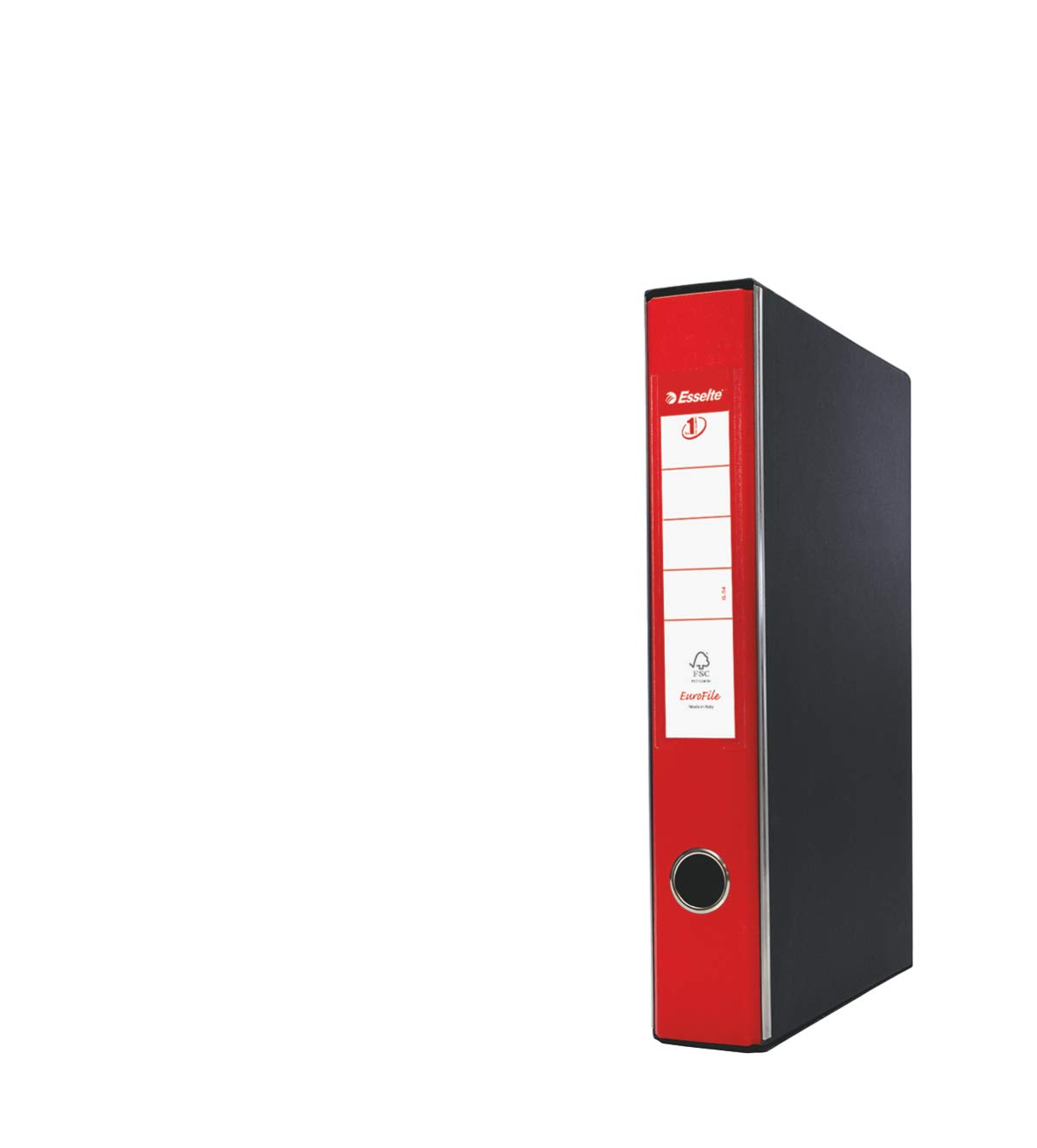 Esselte-RACCOGLITORE EUROFILE with Lever Mechanism and with Mobile, Protocol Format, Cardboard Plastic Coated Dorso 5 cm red by Esselte