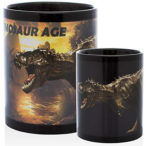 InGwest Home. Funny Dino Mug. Heat Sensitive Color Changing Coffee Mug. Add Hot Liquid And You'll See Dinosaurs