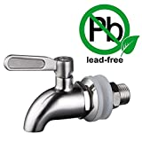 "KES K1060 Replacement Spigot for Beverage Dispenser SUS304 Stainless Steel 5/8"" or 16mm, Polished Finish"