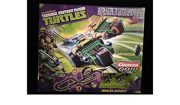 Amazon.com: Nickelodeon Teenage Mutant Ninja Turtles Ninja Boost Turbo Booster 1:43 Scale Slot Racing System by Carrera Go!!! Slot Car Electronic Toy Racing ...