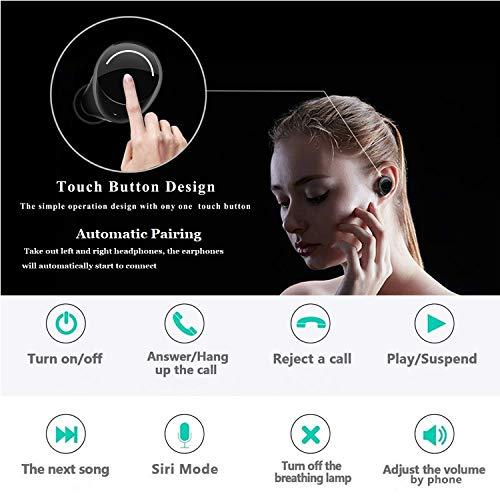 Kopfhörer Bluetooth Kabellose mit tragbarer Ladebox, Ohrhörer Hi-Fi Stereo Sound True Bluetooth V5.0 IPX5 Headset für iPhone X 8 7 Plus Samsung Galaxy S7 S8