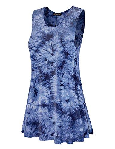 Se Réunissent En Californie Ctc Femmes Rondes Robe Trapèze Sans Manches Cou - Made In Usa Wdr1077_navy