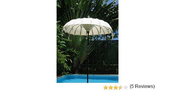 The Bali Shop Balinese Paraguas Blanco algodón Superior: Amazon.es: Jardín
