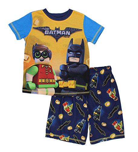 (LEGO Batman Little Boys Batman and Robin  2Pc Pajama Short Set , 43560, Batman Robin BlueYellow )