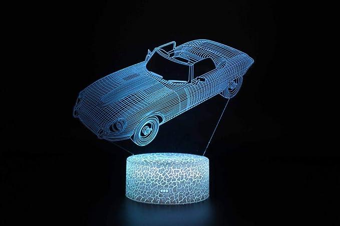 Lámpara 3D Ilusión óptica Luz Nocturna 7 Colores Decoracion LED ...
