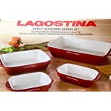 LAGOSTINA 4 Piece Stoneware Baking Set