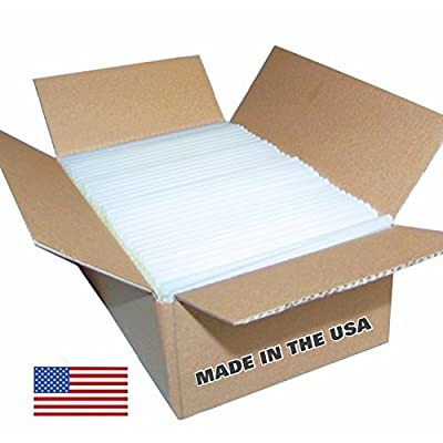 "Glue Sticks 5 lb box, (approx. 90 Sticks) Clear Economy Glue Sticks 7/16"" x 10"", Made in the USA"
