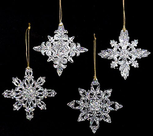 Club Pack of 24 Icy Crystal Clear Filigree Snowflake Christmas Ornaments Review