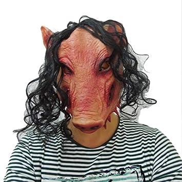 JIGSAW SAW Máscara de cerdo con pelo sintético - Perfecto para ...