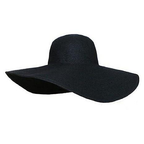 Culater® Donne di Estate Grande Bordo Largo Pieghevole Floscio Cappello  della Spiaggia del Sole della a8abb4542fca