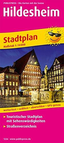 Hildesheim: Touristischer Stadtplan mit Sehenswürdigkeiten und Straßenverzeichnis. 1:14000 (Stadtplan / SP) Landkarte – Folded Map, 1. Februar 2017 PUBLICPRESS 3961322260 Niedersachsen Karte; Stadtplan