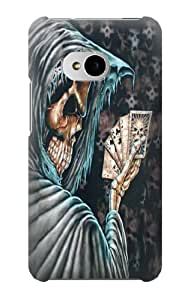 S0748 Grim Reaper Death Poker Case Cover for HTC ONE M7