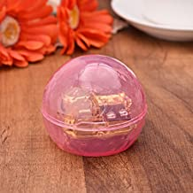YouTang(TM) Ball-shaped Creative Transparent Acrylic 18-note Wind-up Musical Box,Musical Toys,Tune:Frozen Let it Go,Pink