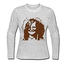 LUYI Women's Janis Lyn Joplin Long Sleeve Tshirt