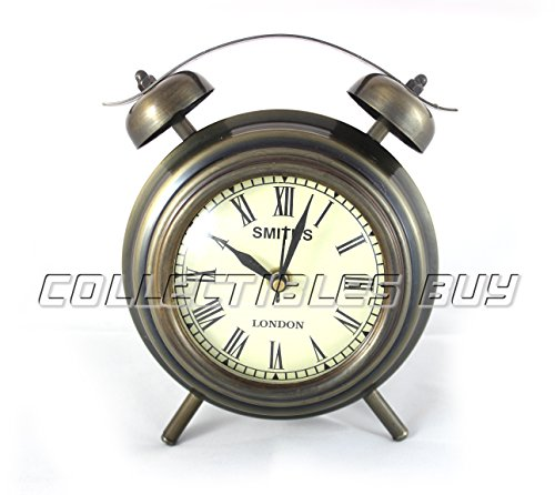 Replica Desk Clock (Nautical Royal Charming Table Decorative Vintage Movable Antique Home Decorative Table Clock Unique Classic Desk Watch Replica)