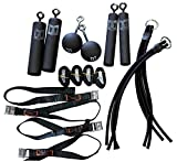 Pro Ninja Grip Kit - Ninja Warrior, Rock Climbing, Parkour and Crossfit hand strength power training holds with hanging straps