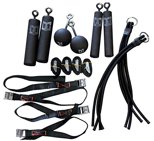 Pro Ninja Grip Kit - Ninja Warrior, Rock Climbing, Parkour and Crossfit hand strength power training holds with hanging straps by Warrior Life Gear