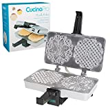 CucinaPro  Polished Pizzelle Maker 220-05P - Makes Two 5'' Cookies at Once