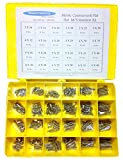 NEWCO PRODUCTS 963A2ASST-Metric Countersunk Flat Head Slot Machine Screw European Stainless Steel (A2) Assortment