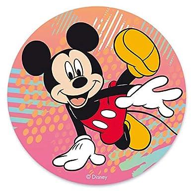 Oblea de Tarta con Diseño Oficial de Mickey Mouse 20cm: Amazon.es: Alimentación y bebidas