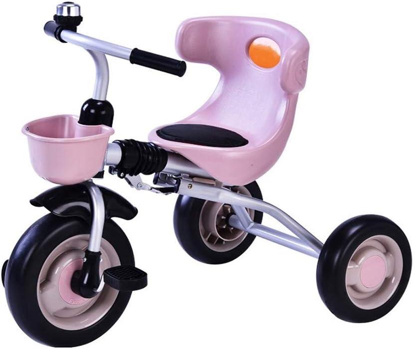 Cuatro colores plegables montaje del juguete inflable triciclo resistencia al desgaste de los neumáticos amortiguador del coche niño balance bebé caminar ligero de tres ruedas de bicicleta infantil 2-