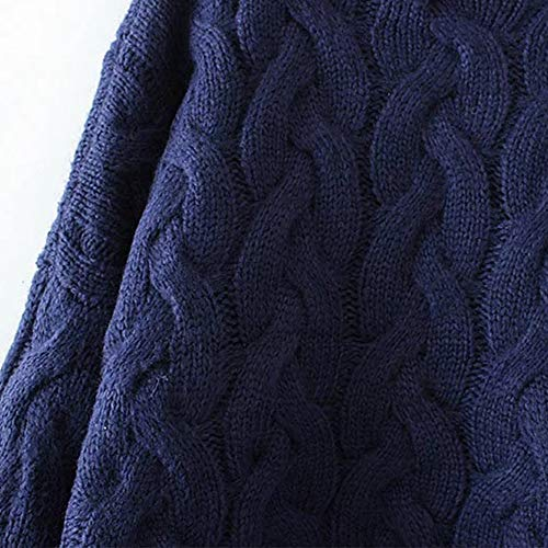 Caldo Donna Casual Autunno Maglione Lloo Navy navy Oversize Inverno Pullover Dolcevita wqnFBFWc0
