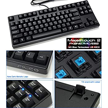 Filco Majestouch-2, Tenkeyless, NKR, Click Action, USA Keyboard FKBN87MC/EB2