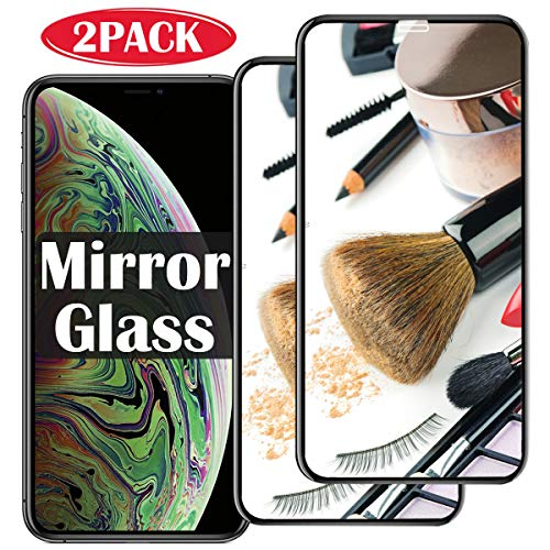 2 Pack 【Mirror Effect】 i Phone XS MAX Screen Protector Mirrored Glass Compatible with iPhone XSMAX Tempered Glass [ 9H Hardness ] for x s sx Plus 10s Xmax xmaxs iPhonexsmax Protective Steel Film 2018