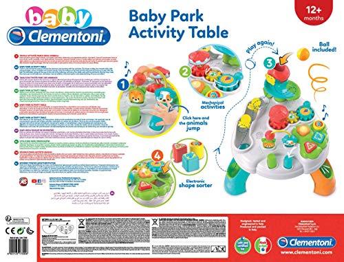 Clementoni- Baby Tavolo attività Parco degli Animali, 12+ Mesi, Multicolore, 17300 3