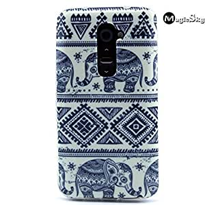 LG G2 Case, LG G2 Cover, Elephant Pattern, New, MagicSky LG G2 Snap-on Case TPU Soft Back Case Cover Protective Skin Case for LG G2, 1 Pack