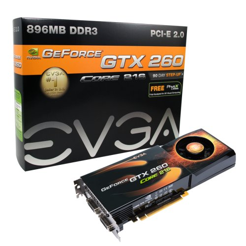 EVGA 896-P3-1265-AR GeForce GTX260 Core 216 896MB DDR3 PCI-Express 2.0 Graphics Card (Evga Geforce Gtx 260)