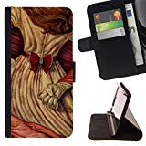 All Phone Most Case / Special Offer Smart Phone Leather Wallet Case Protective Cover Case for Samsung Galaxy S4 Mini i9190 // Redhead Womn Girl Power Fist Knuckle Ring