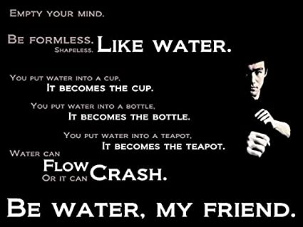 Amazoncom Purchase Punch Empty Your Mindbruce Lees Quotes Poster