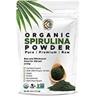 Earth Circle Organics   Spirulina Powder, Certified Organic, Kosher NON-GMO   Raw and Non-Irradiated   Pure Vegan Protein   Premium Superfood, High in Amino Acids and Antioxidants - 4oz