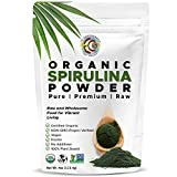 Earth Circle Organics | Spirulina Powder, Certified Organic, Kosher NON-GMO | Raw and Non-Irradiated | Pure Vegan Protein | Premium Superfood, High in Amino Acids and Antioxidants - 4oz