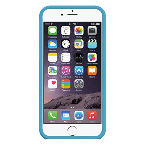 Seidio SURFACE Case with Metal Kickstand for iPhone 6 Plus- Retail Packaging - Electric Blue