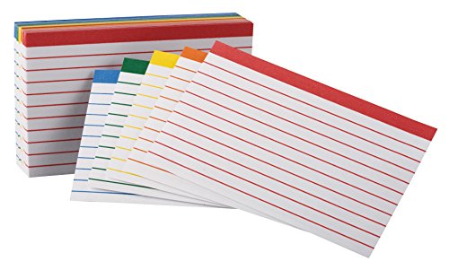 Esselte Color Coded Bar Ruled Index Cards 3 x 5 Assorted ...