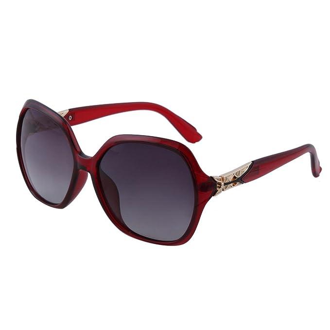 Damara Gran Calidad Gafas Polarizadas Para Mujer Gafas De Sol,Vino Rojo Monturas/Fucsia