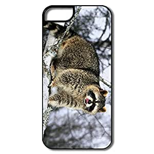 IPhone 5 Cases, Raccoon Cover For IPhone 5 5S - White/black Hard Plastic