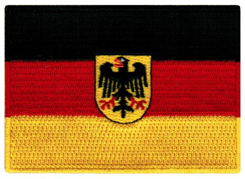 Germany Flag Embroidered Patch German Eagle Iron-On Aufnähe